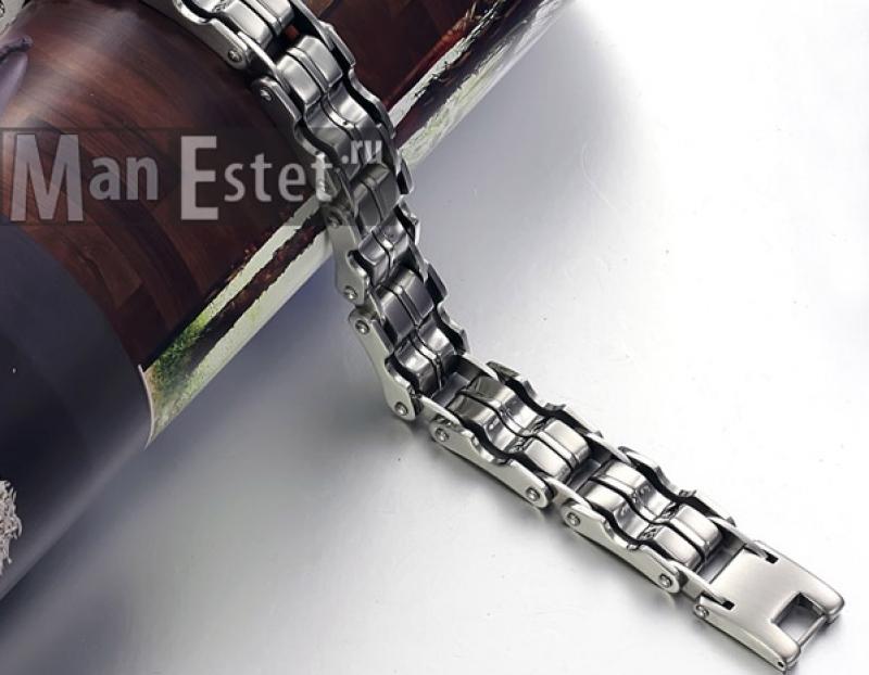 Мужской браслет из стали (арт.BR-009)