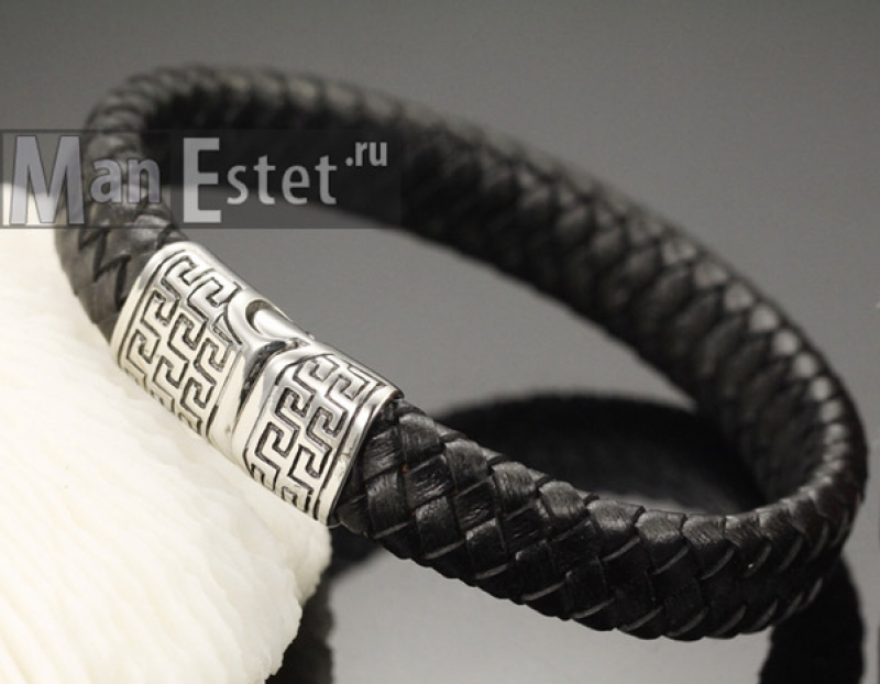Мужской кожаный браслет (арт.BR-014)