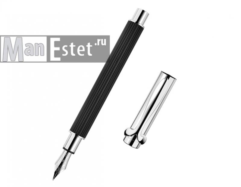 Ручка перьевая из серебра черная (арт. F001101)