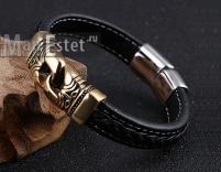 Мужской кожаный браслет (арт.BR-018)