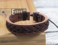 Мужской кожаный браслет (арт.BR-029)