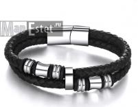 Мужской кожаный браслет (арт.BR-052)
