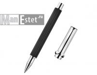 Ручка роллер из серебра черная (арт. R001101)