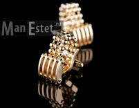 Золотые запонки (арт.CL-4504)