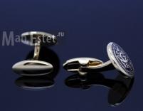 Золотые запонки Blizzard (арт.CL-4707)