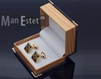 Золотые запонки (арт.CL-4714)