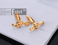 """Запонки """"Скрипичный ключ"""" gold (арт.CL-4736)"""