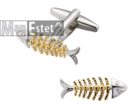 Запонки Скилет рыбы (арт.CL-4737)