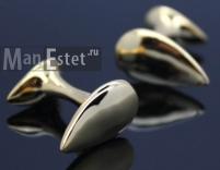 Запонки позолота Drop gold (арт.CL-4917)