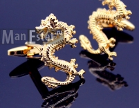 Золотые запонки Dragon (арт.CL-4515)