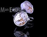 Запонки с часовым механизмом (арт.CL-5114)