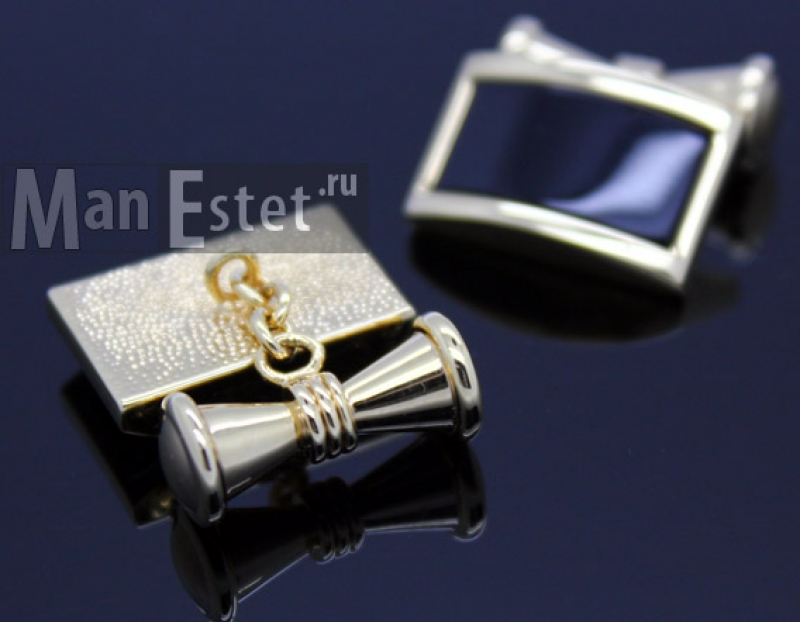 Золотые запонки Gran Carro (арт.CL-4720)