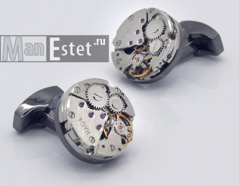 Запонки с часовым механизмом (арт.CL-5083)
