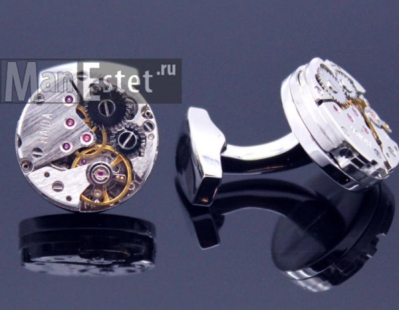 Запонки с часовым механизмом (арт.CL-5230)