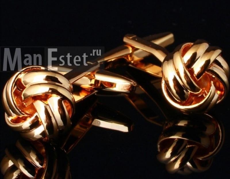 Золотые запонки Ambassador (арт.CL-4718)