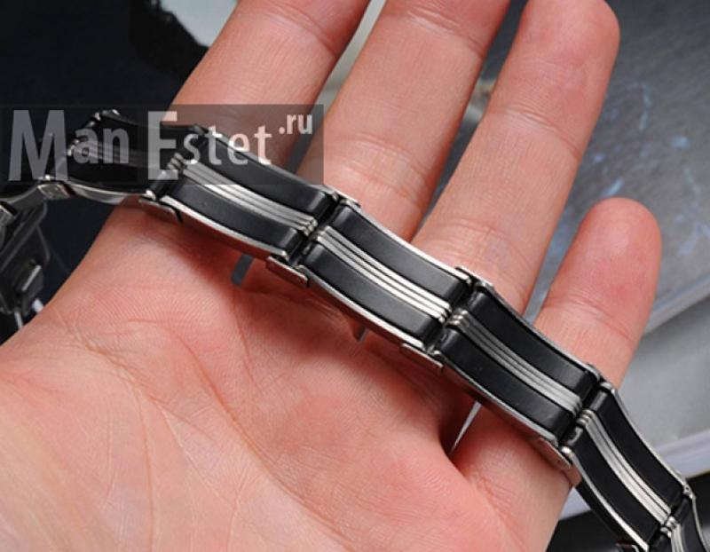Мужской браслет стальной (арт.BR-007)