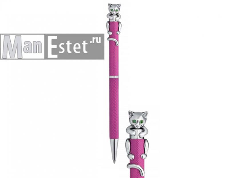Ручка женская из серебра с поворотным механизмом (арт. R072127)
