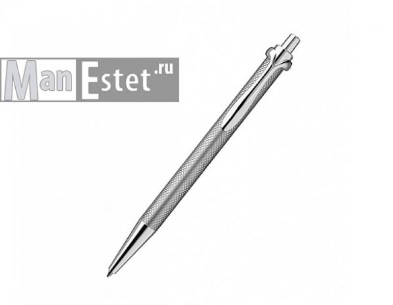Серебреная ручка роллер с нажимным механизмом (арт. R005100)
