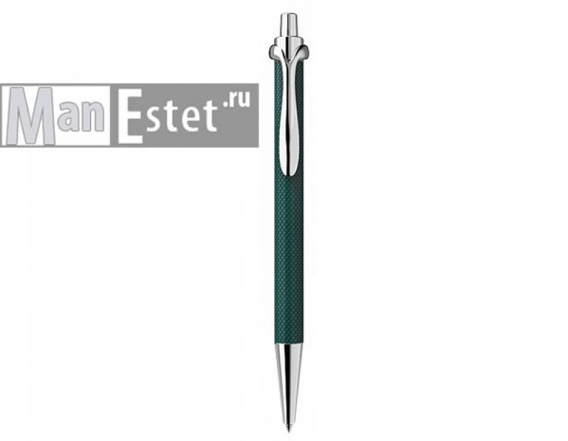 Ручка роллер из серебра с нажимным механизмом