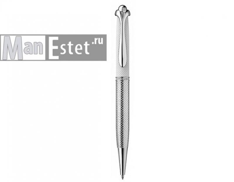 Серебреная ручка роллер, цвет серебро
