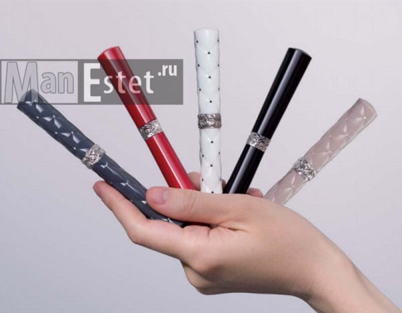 Женская серебряная ручка с завинчивающимся колпачком
