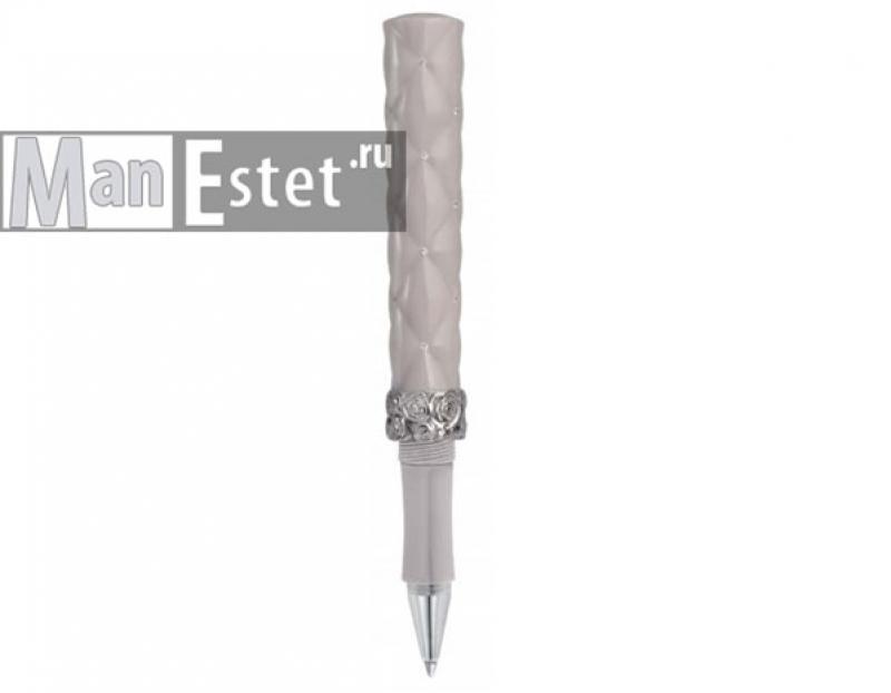 Женская серебряная ручка с завинчивающимся колпачком (арт. R018117)