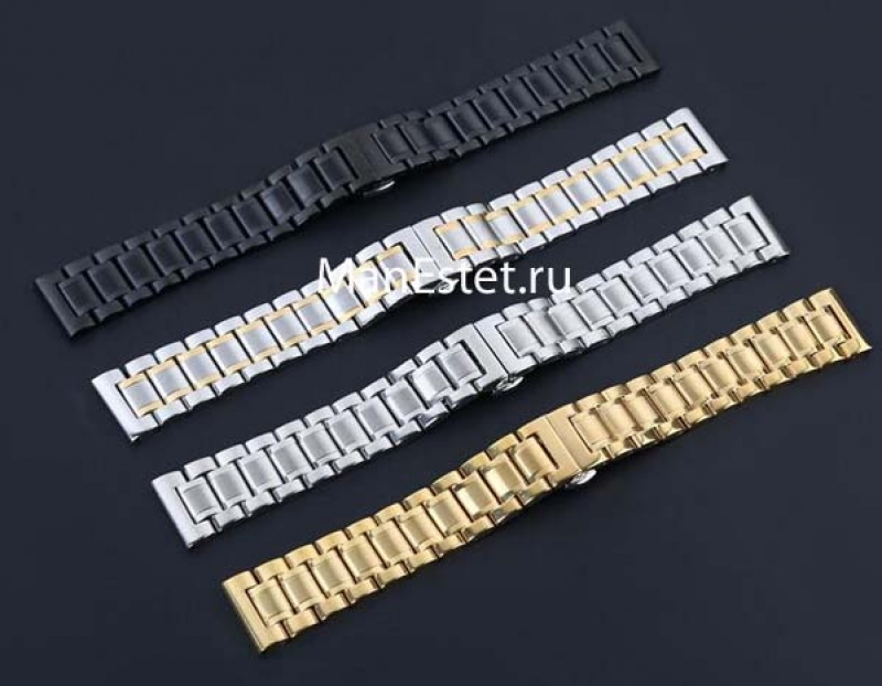 Стальной ремешок к наручным часам арт. RsW-2118 золотой цвет