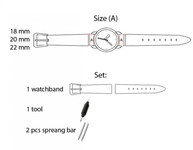 Стальной ремешок к наручным часам арт. RsW-2112 (цвет золото)
