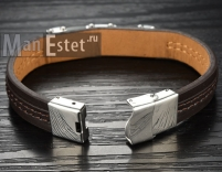 Мужской кожаный браслет (арт.BR-015)