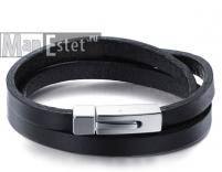 Мужской кожаный браслет (артик.BR-014)