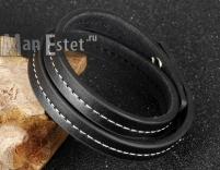 Мужской кожаный браслет (арт.BR-024)