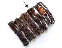 Мужской кожаный браслет (арт.BR-028)