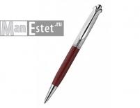 Серебреная ручка роллер с поворотным механизмом, цвет бордовый (арт. R048115)
