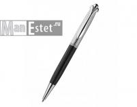 Серебреная ручка роллер, цвет черный