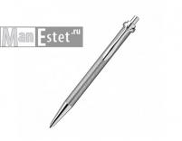 Серебреная ручка роллер с нажимным механизмом