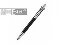 Ручка роллер из серебра, черная