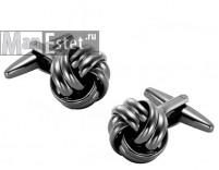 Запонки вороненая сталь узел