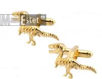 Запонки c позолотой dinosaur