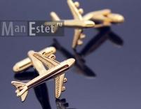 Золотые запонки Boeing