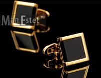 Золотые запонки David Cross