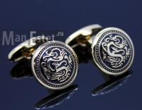 Золотые запонки Dragon