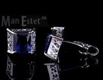 Запонки c кристаллом Brice