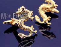 Золотые запонки Dragon (Дракон)