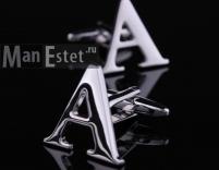 """Запонки стальные буква """"А"""" (арт.CL-5315)"""