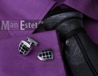 Запонки стальные с эмалью
