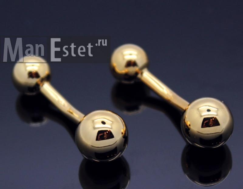 Золотые запонки ball