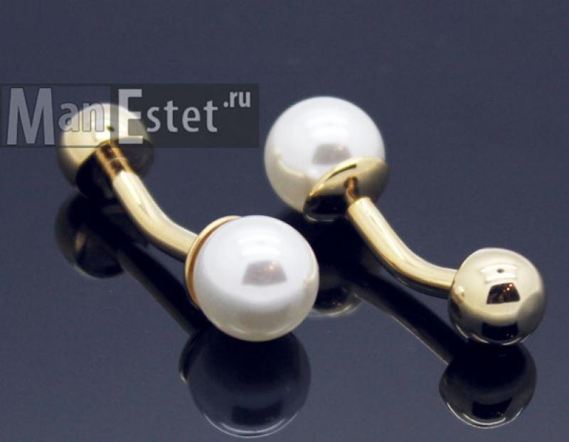 Золотые запонки (арт.CL-4739)