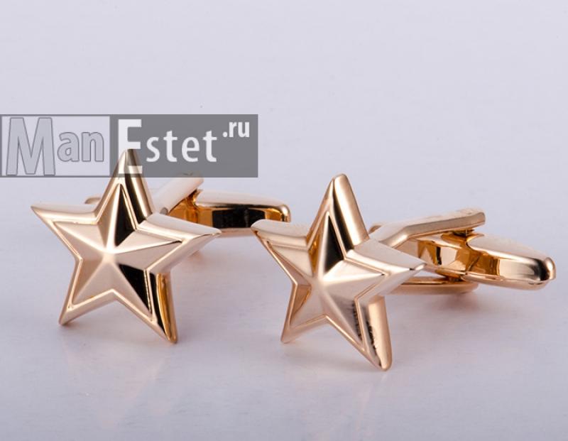 Золотые запонки Star gold (арт.CL-4518)