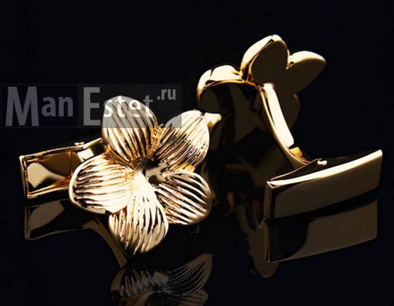 Запонки позолота (арт.CL-4708)