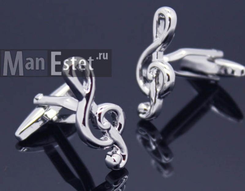 """Запонки """"Скрипичный ключ"""" (арт.CL-5324)"""